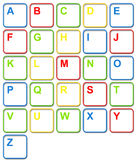 Colorful Computer Keyboard Keys Stock Photography