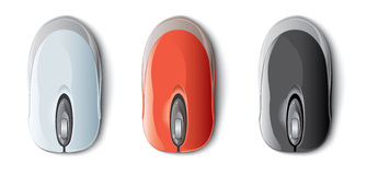 Colorful computer mouse Stock Images