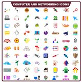 Colorful Computer and Networking Icon Stock Image