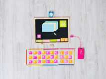 Colorful computer with user interface Stock Photo