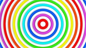 Colorful concentric lines abstract 3D render Royalty Free Stock Photos