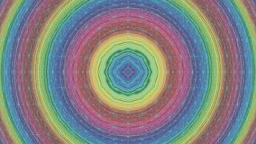 Colorful Concentric Round Circle Rotating Network stock video