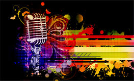 Colorful concert poster. Vector illustration Royalty Free Stock Images