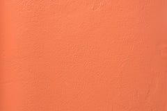 Colorful concrete wall. _Fiesta orange color Stock Photography