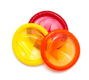 Colorful condoms Royalty Free Stock Images
