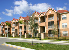 Colorful Condos. Row of new condos in tropics royalty free stock photo