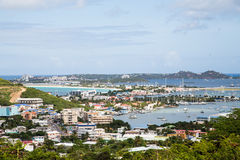 Colorful Condos And Yacht Basins In St Martin Stock Image