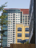 Colorful Condos in Mixed Use Complex Royalty Free Stock Photography