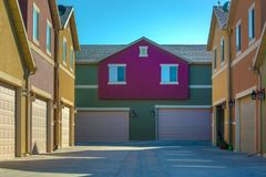 Colorful condos in Utah Valley stock images