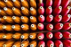 Colorful of the cone threads Stock Image