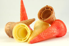 Colorful cones Stock Images