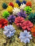 Colorful cones Stock Photos