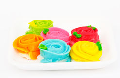 Colorful Confection. Confection for dessert with beautiful shape and bright colors Stock Images