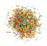 Colorful confectionery sprinkling. Decoration for cake and bakery, a lot of sprinkles Stock Photos