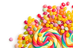 Colorful confectionery. On white background royalty free stock images