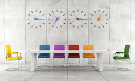Colorful conference room Stock Photo