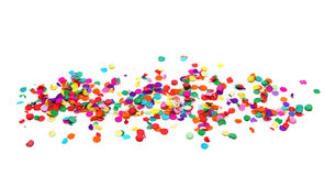 Colorful confetti. Isolated on white background Stock Images
