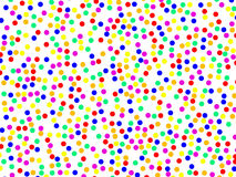 Colorful confetti. A lot of colorful confettis over white Royalty Free Stock Image