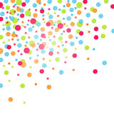 Colorful confetti. Square white background with colorful confettis vector illustration