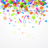 Colorful confetti. vector. Abstract festive background with colorful confetti. vector Royalty Free Stock Images