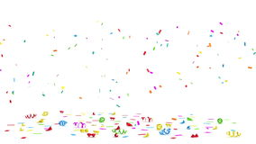 Colorful Confetti stock footage