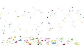 Colorful Confetti stock footage