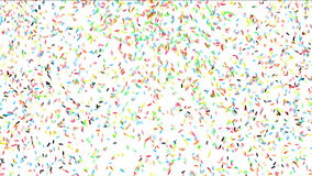 Colorful confetti stock video footage