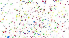 Colorful confetti stock video