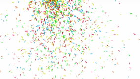 Colorful confetti stock video