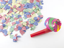 Colorful confetti background Stock Photos