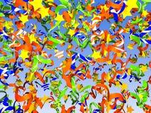 Colorful confetti background Stock Photos