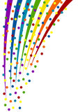 Colorful confetti background. Vector Illustration Royalty Free Stock Photography