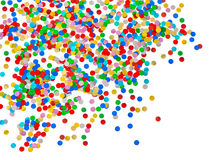 Colorful confetti background. carnival decoration royalty free stock photo