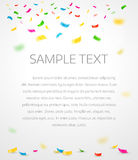 Colorful confetti background with place for text Royalty Free Stock Images