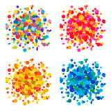 Colorful confetti backgrounds. Set of colorful confetti backgrounds Royalty Free Stock Images