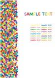 Colorful confetti border Royalty Free Stock Photo