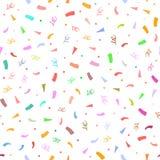 Colorful confetti. Cute festive seamless pattern. Stock Photo