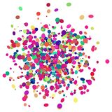 Colorful confetti design with transparent background Royalty Free Stock Image