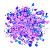 Colorful confetti design with transparent background Royalty Free Stock Photos
