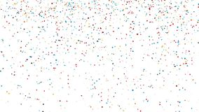 Colorful confetti falling. Animation of colorful confetti on green screen, holiday and festive fun concept royalty free illustration