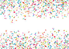 Colorful Confetti Falling in Front of a White Background Royalty Free Stock Images