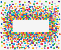 Colorful confetti frame. Royalty Free Stock Image