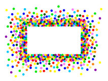 Colorful confetti frame Royalty Free Stock Images