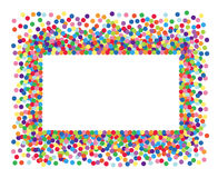 Colorful confetti frame. Stock Images