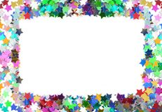 Colorful confetti frame Royalty Free Stock Image