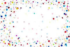 Colorful Confetti in front on isolated background stock image