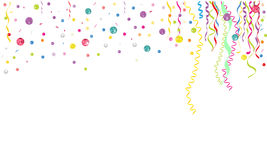 Colorful confetti and gems background vector Royalty Free Stock Photography