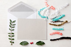 Colorful confetti. Holiday mail Stock Photography