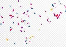 Colorful confetti , isolated on transparent background. Illustration of Colorful confetti banner , isolated on transparent background Royalty Free Stock Photo