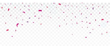 Colorful confetti , isolated on transparent background. Illustration of Colorful confetti banner , isolated on transparent background Stock Photo